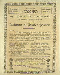 Advertisement for Goochs', drapers